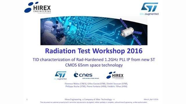 Test VehicleTID radiation test | HIREX ENGINEERING | Alter