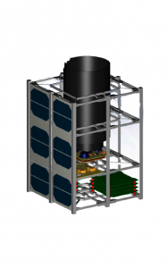 The NaoSat nanosatellite platform for in-flight radiation testing