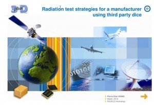 radiation test strategies for a manufacturer