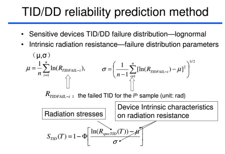TID DD reliability prediction method