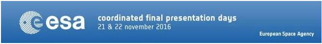 ESA final presentation days