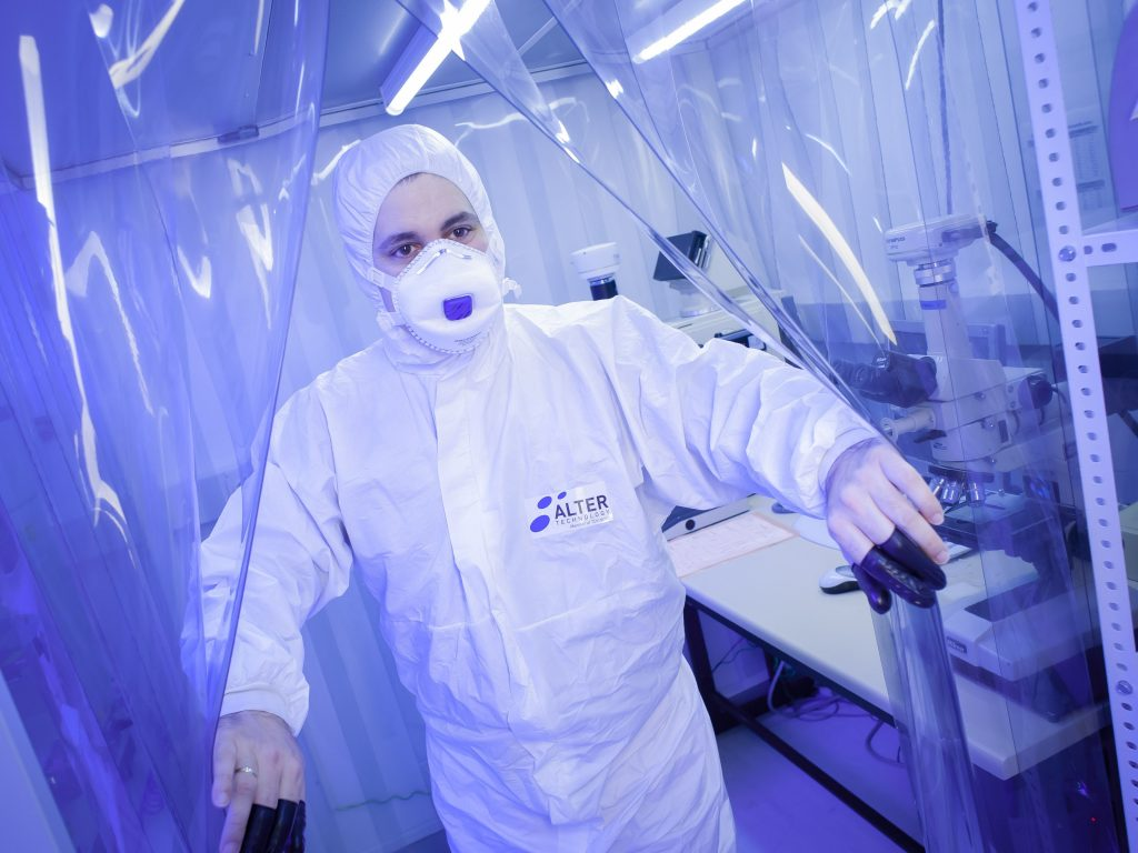 EEE Parts Laboratory Alter Technology clean room
