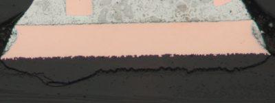 Acolchado de cráteres PCB